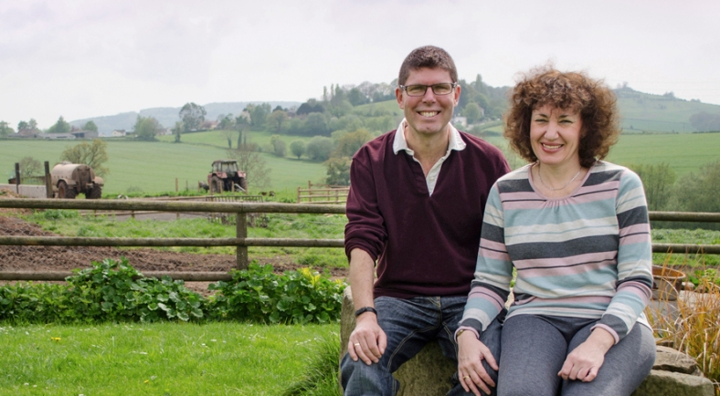 Tim and Katrina Cracknell on their farm