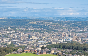 A view of the conurbation of Huddersfield