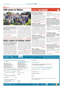 News in brief - page 3 January issue