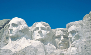 Presidents Washington, Jefferson, T. Roosevelt & Lincoln at Mount Rushmore |photo: iStock