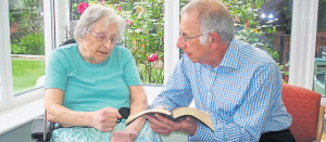 London City Missionary Paul Chierico visits a friend at a Peckham nursing home
