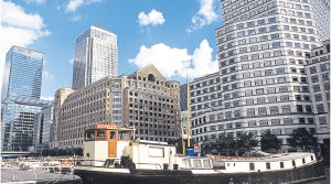 St. Peter's Barge at Canary Wharf