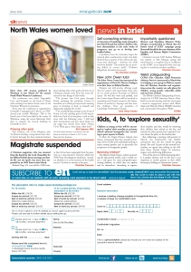 News In brief - page 3 May issue